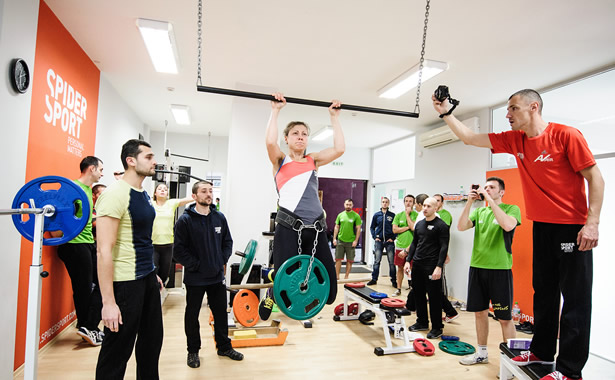 Evgenia Petkova <br />SPIDER GAMES competition Pull up with 10 kg
